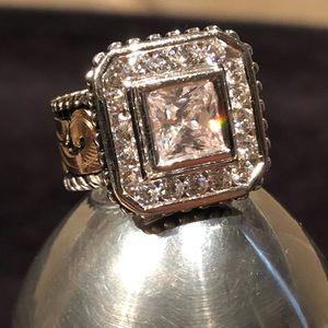 NEW Bob Berg Classic Princess Cut CZ Ring .925 10K